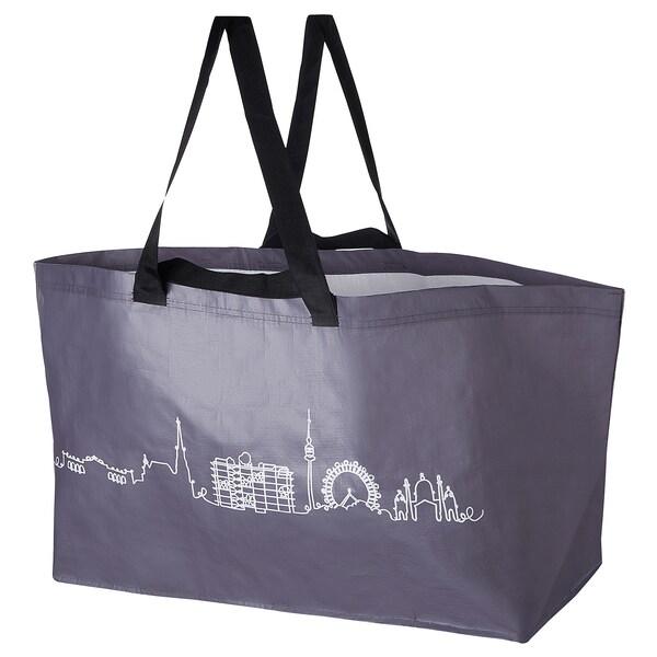 KADORRA Tasche groß, silberfarben Stadtsilhouette Wien, 71 l