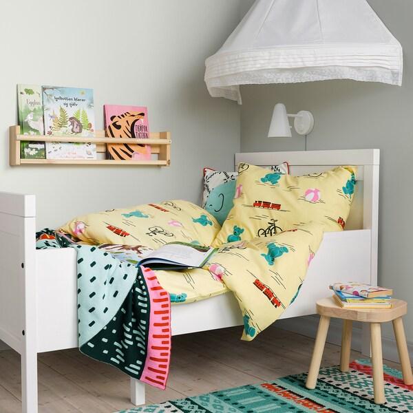 KÄPPHÄST Bettwäscheset, 2-teilig, Spielsachen gelb, 150x200/50x60 cm