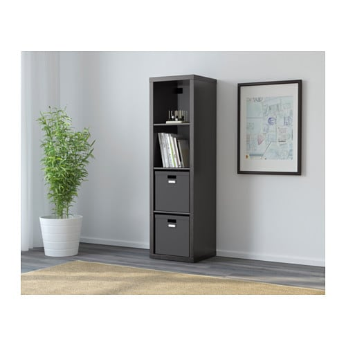 kallax regal schwarzbraun ikea. Black Bedroom Furniture Sets. Home Design Ideas