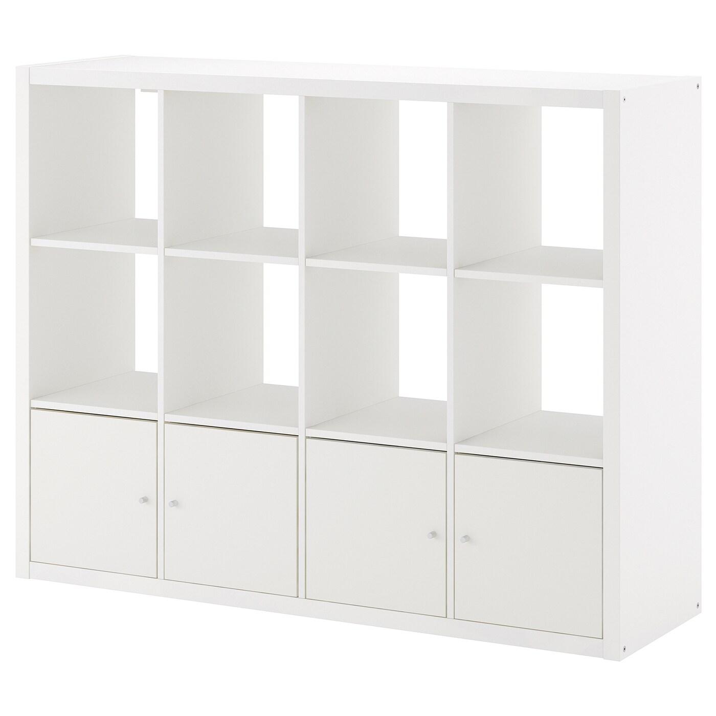 KALLAX Regal mit 4 Einsätzen weiß IKEA Österreich