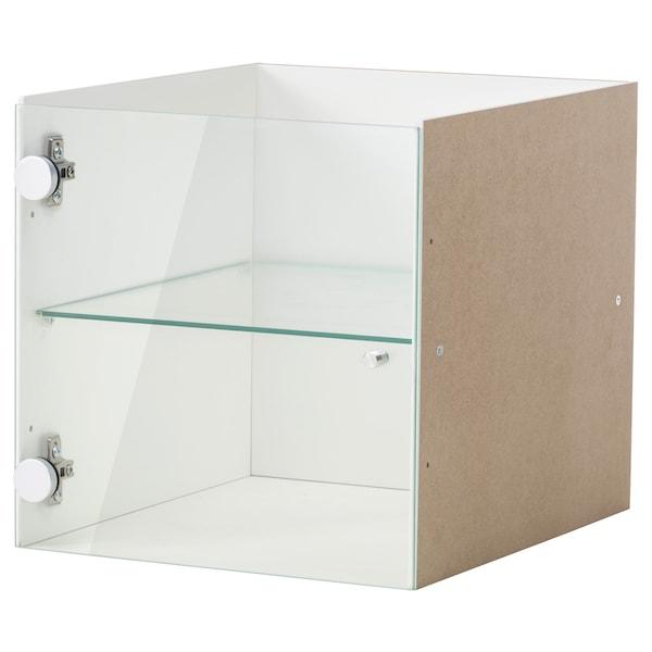 KALLAX Vitrinentüreinsatz, weiß, 33x33 cm