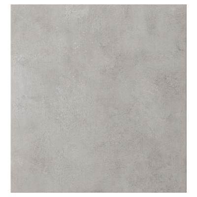 KALLVIKEN Tür, hellgrau Betonmuster, 60x64 cm