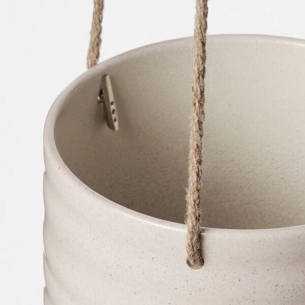KAPKRUSBÄR Ampel, hellgrau, 12 cm