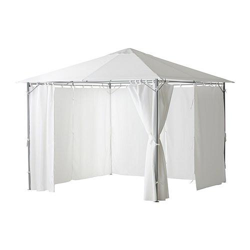 karls pavillon mit gardinen ikea. Black Bedroom Furniture Sets. Home Design Ideas
