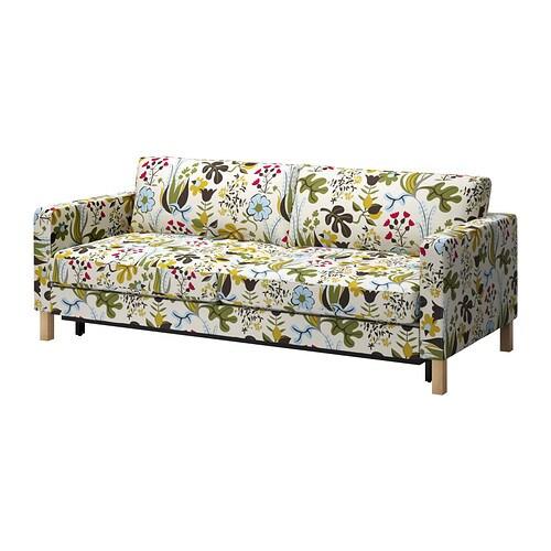 karlstad bezug 3er bettsofa blomsterm la bunt ikea. Black Bedroom Furniture Sets. Home Design Ideas