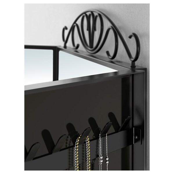 KARMSUND Tischspiegel, schwarz, 80x74 cm