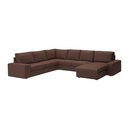 kivik ecksofa 2 2 mit r camiere borred dunkelbraun ikea. Black Bedroom Furniture Sets. Home Design Ideas