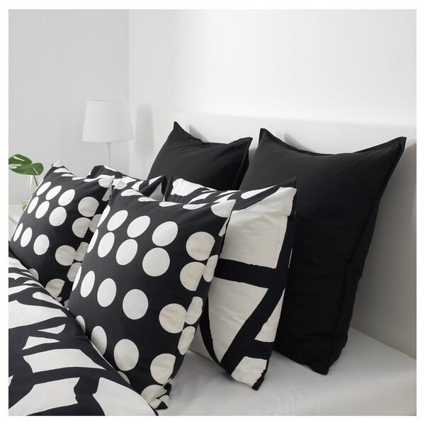 KLARASTINA Kissenbezug, schwarz/weiß, 50x50 cm