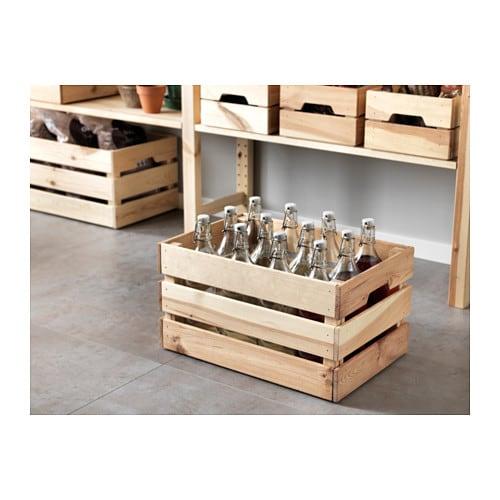Ikea Holzkiste knagglig kasten ikea