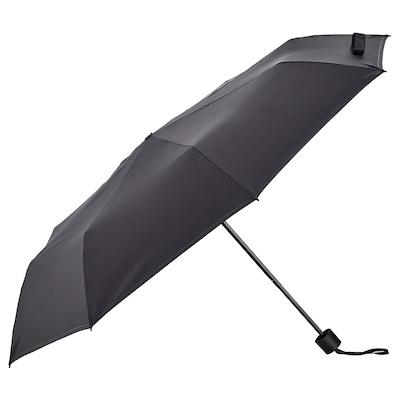 KNALLA Regenschirm, faltbar schwarz