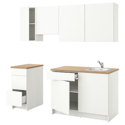 KNOXHULT Küche, weiß, 220x61x220 cm
