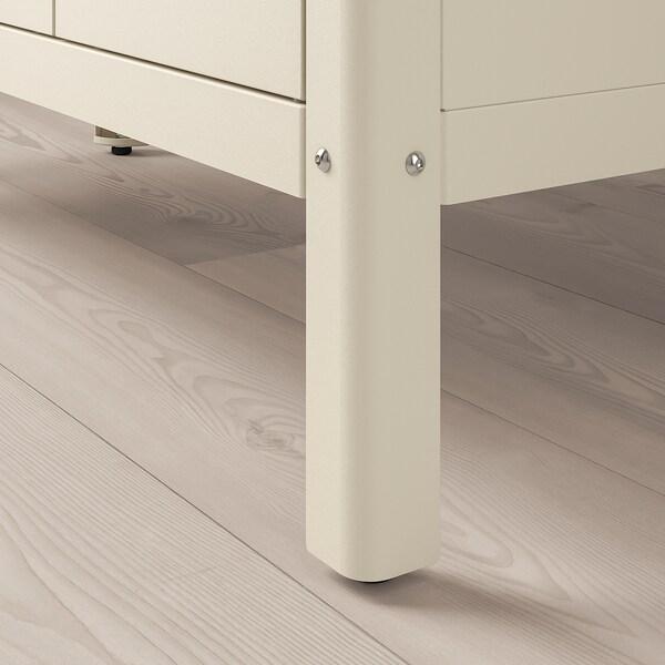 KOLBJÖRN Regal mit 2 Schränken, beige, 171x37 cm