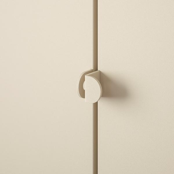 KOLBJÖRN Regal mit Schrank, beige, 171x37x161 cm