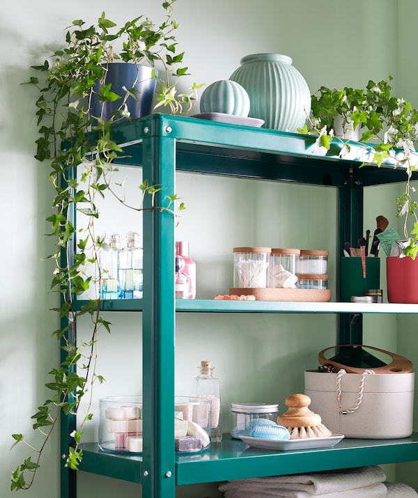 KOLBJÖRN Regal mit Schrank - grün - IKEA Österreich