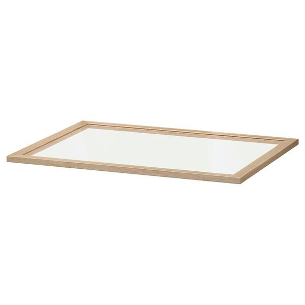 KOMPLEMENT Glaseinlegeboden, Eicheneff wlas, 75x58 cm