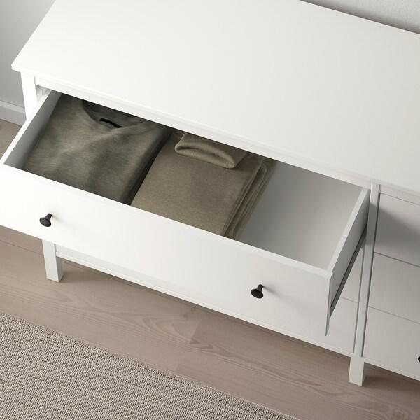 KOPPANG Kommode mit 6 Schubladen, weiß, 172x83 cm