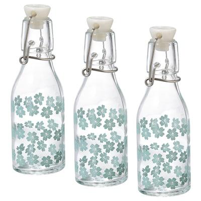KORKEN Flasche mit Verschluss, gemustert, 15 cl