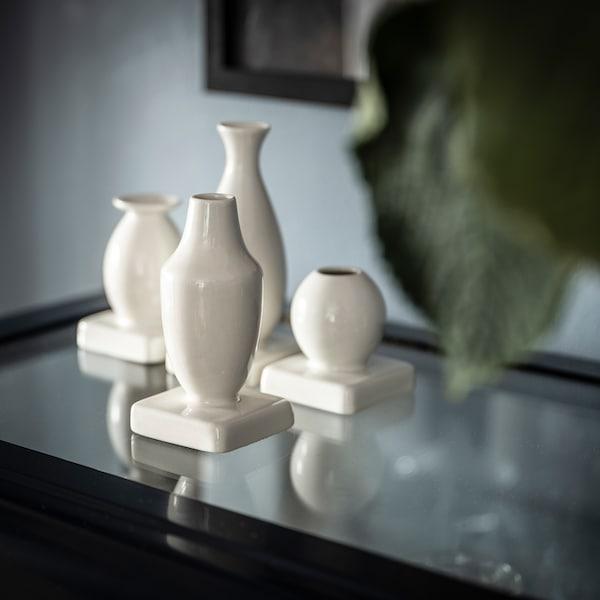 KRINGGÅ Vasen-Set 4-teilig, weiß