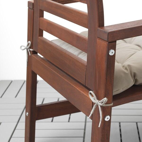 KUDDARNA Stuhlpolster/außen, grau, 50x50 cm