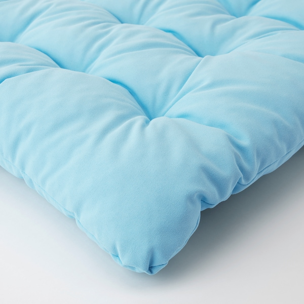 KUDDARNA Stuhlpolster/außen, hellblau, 50x50 cm