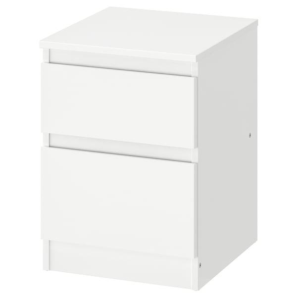 KULLEN Kommode mit 2 Schubladen, weiß, 35x49 cm