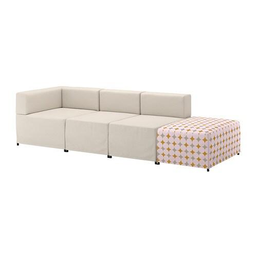 Kungshamn 4er sitzelement idekulla beige yttered bunt ikea - Ikea divano componibile ...