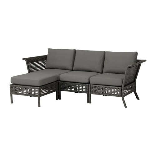 kungsholmen 3er sofa hocker au en schwarzbraun fr s n duvholmen dunkelgrau ikea. Black Bedroom Furniture Sets. Home Design Ideas