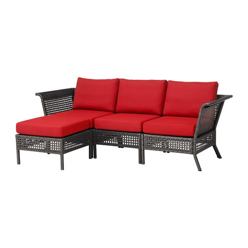 kungsholmen 3er sofa hocker au en schwarzbraun fr s n duvholmen rot ikea. Black Bedroom Furniture Sets. Home Design Ideas
