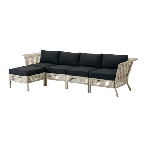 kungsholmen kungs 4er sofa hocker au en hellgrau schwarz ikea. Black Bedroom Furniture Sets. Home Design Ideas