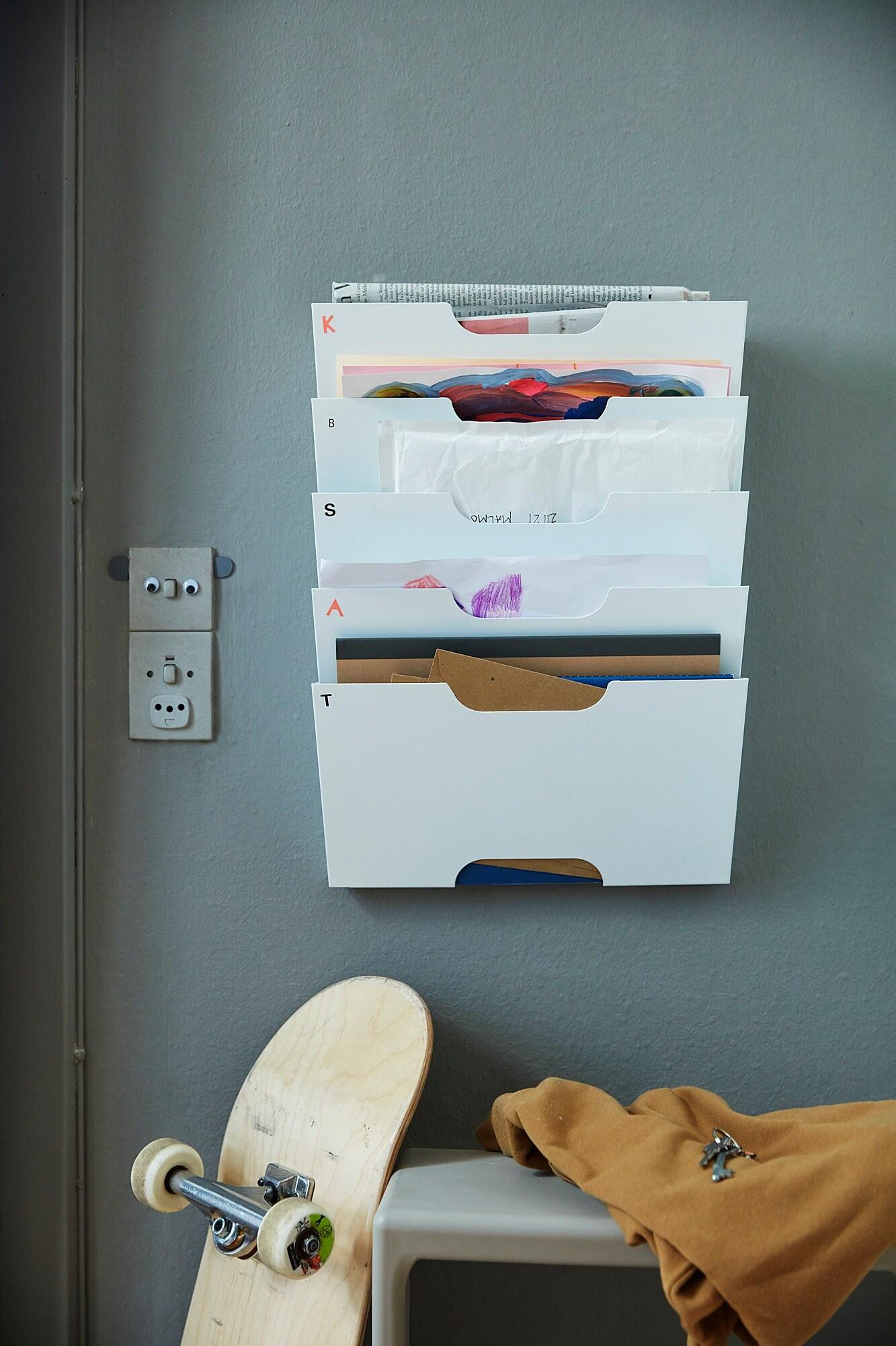 KVISSLE Zeitungshalter für die Wand weiß IKEA Österreich