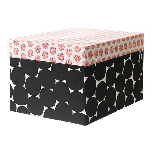 kvittra kasten mit deckel schwarz 32x25x20 cm ikea. Black Bedroom Furniture Sets. Home Design Ideas