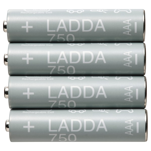 LADDA Akku, aufladbar, HR03 AAA 1,2 V, 750mAh