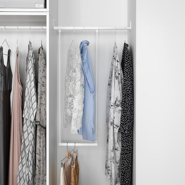 LÄTTHET Kleiderstange für Korpus, weiß, 35-60x55 cm