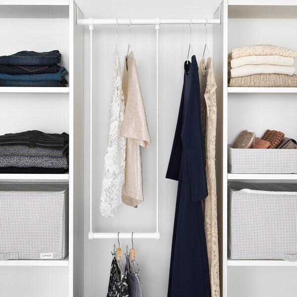 LÄTTHET Kleiderstange für Korpus, weiß, 35-60x40 cm