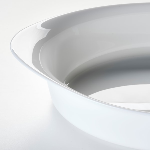 LÄTTVIKTIG Ofenform, weiß, 30x19 cm