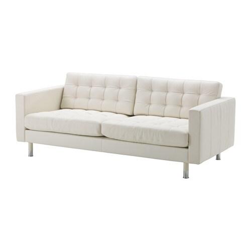 landskrona 3er sofa grann bomstad wei metall ikea. Black Bedroom Furniture Sets. Home Design Ideas