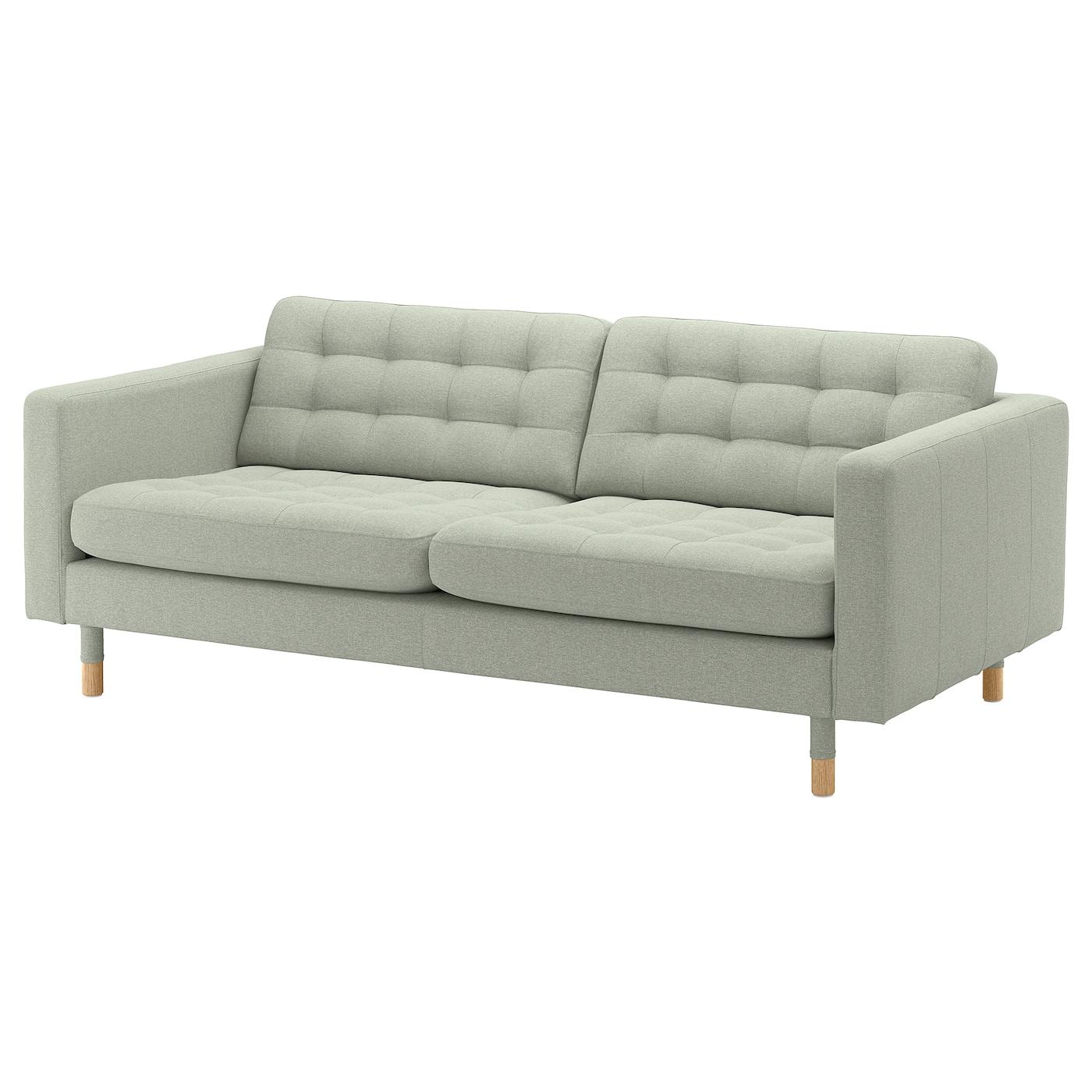 Kleiderbügel Holz Ikea : landskrona 3er sofa gunnared hellgr n holz ikea ~ Watch28wear.com Haus und Dekorationen