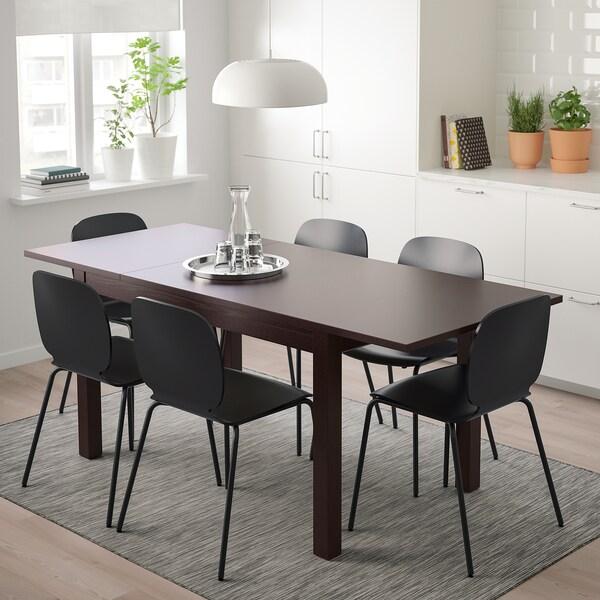 LANEBERG SVENBERTIL Tisch Und 4 Stühle Braun Schwarz