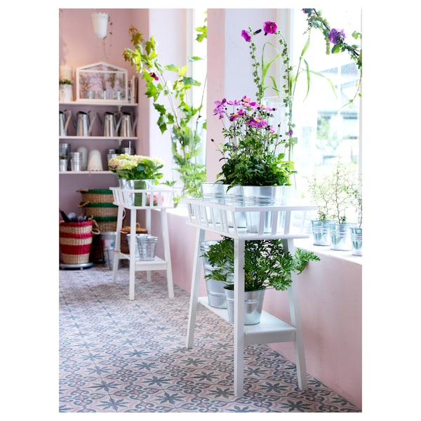 LANTLIV Blumenständer, weiß, 68 cm
