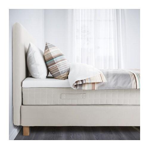 lauvik boxbett hafslo fest beige 140x200 cm burfjord. Black Bedroom Furniture Sets. Home Design Ideas