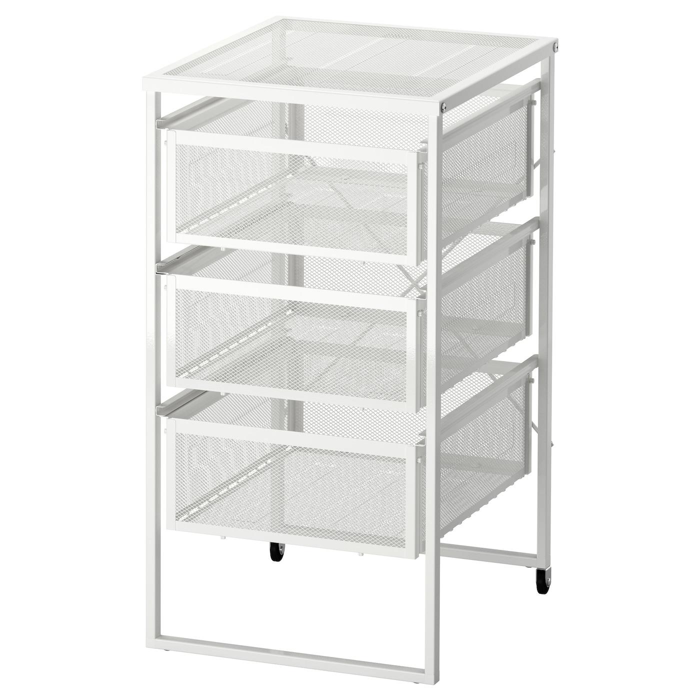 IKEA LENNART Schubladenelement in weiß; mit Rollen Büro Aufbewahrung