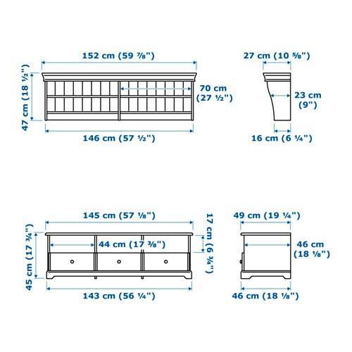 LIATORP TV Möbel, Kombination   Grau   IKEA