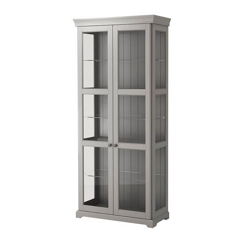 Glass Curio Cabinets At Ikea ~ LIATORP Vitrinenschrank > 3 versetzbare Glasböden; der Abstand