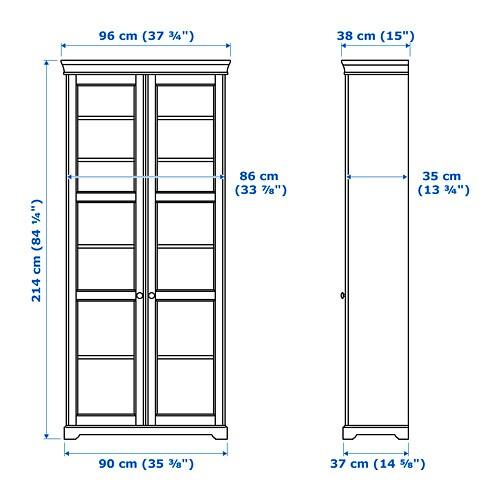 LIATORP Vitrinenschrank   Weiß   IKEA