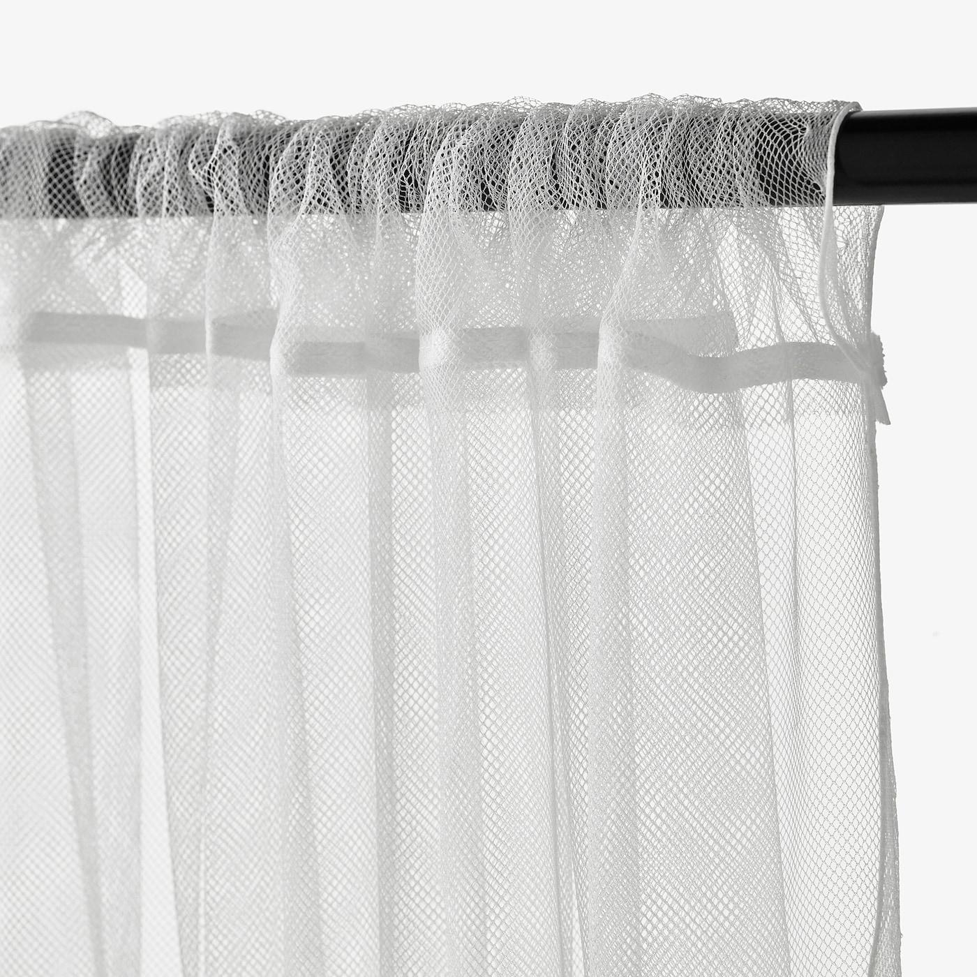 IKEA 2 Gardinen zu je 280x300 cm weiß Gardinenschals Gardinenschal Vorhang NEU