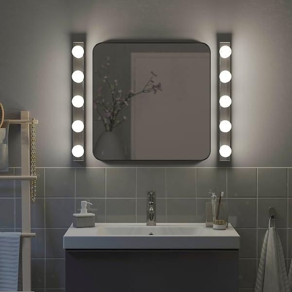LINDBYN Spiegel, schwarz, 60x60 cm