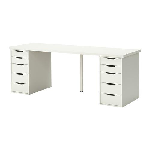linnmon alex tisch wei ikea. Black Bedroom Furniture Sets. Home Design Ideas