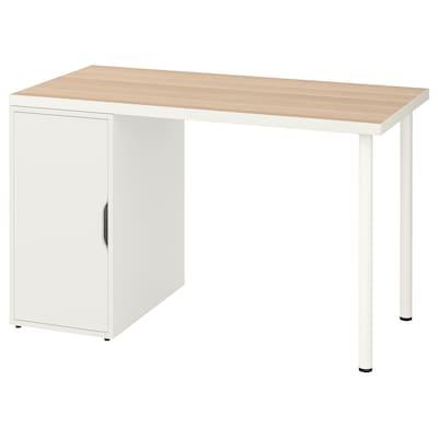 LINNMON / ALEX Tisch, weiß Eicheneff wlas/weiß, 120x60 cm