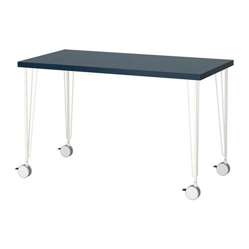 linnmon krille tisch geometrisch blau wei ikea. Black Bedroom Furniture Sets. Home Design Ideas