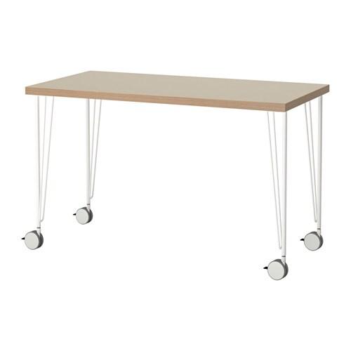linnmon krille tisch beige wei ikea. Black Bedroom Furniture Sets. Home Design Ideas